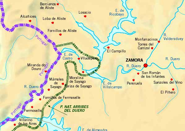Map Of Spain Zamora.Holiday Cottages Bed And Breakfast Country Holidays On The Map Of