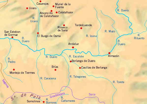 Holiday Map Of Spain.Holiday Cottages Bed And Breakfast Country Holidays On The Map Of